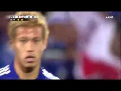 【動画】ロシアW杯ベルギー戦での本田のフリーキックwww