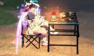 発光し周囲を明るく照らす椅子が気になる~キャンプテーブルセット