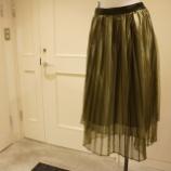 『B DONNA (ビドンナ)シャイニープリーツスカート』の画像