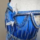『ベリーダンス衣装 一体型スカートのウエスト詰めpart2、ホックで対応しちゃいましょう。』の画像
