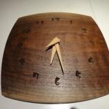 『【SWINGの小物】ブラックウォールナットの時計』の画像