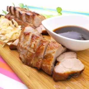 ジャムで味付け簡単♪豚肉のアプリコットロースト