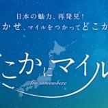 『JAL わずか6,000マイルで往復特典航空券「どこかにマイル」』の画像
