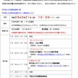『戸田市「市民活動サポート補助金」H25年度報告会&H26年度事前説明会 3月21日(金・祝)開催』の画像