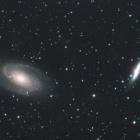 『おおぐま座のM81&M82銀河』の画像