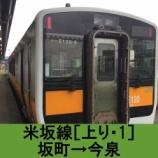 『米坂線 車窓[上り・1]坂町→今泉』の画像
