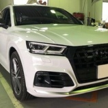 『【スタッフ日誌】Audi SQ5(FY)クイックホーンモジュールをお取り付けさせて頂きました!』の画像