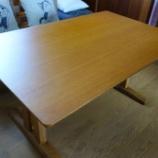 『シラカワ・素技のダイニングテーブルの拭き直しメンテナンス完了』の画像