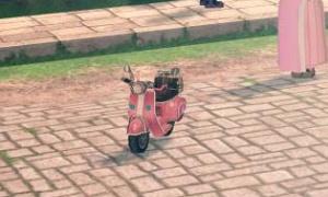 無人のスクーターがtanasinn...