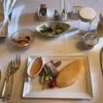 ・9月のミラコスタのルームサービスの朝食。
