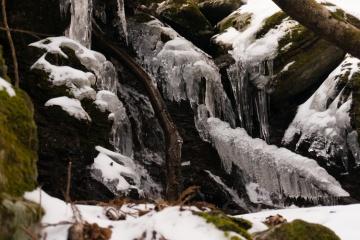 残雪の明神平でテント泊 早々に下山【2日目】