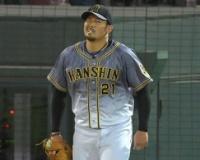 【阪神】岩田、勝利投手権利まであと1死…逆転打浴び無念の降板。5四死球と制球苦しむ。