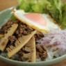 ひき肉とたけのこ炒めご飯