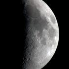 『雲間に浮かぶ月齢7.1のお月様』の画像