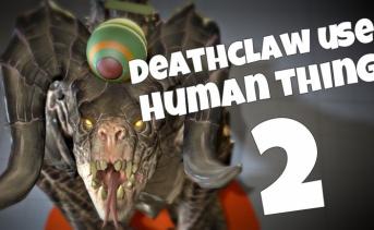 デスクローを題材にしたショートアニメーション『Deathclaw Uses Human Things』