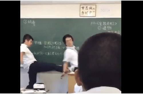 【終了】教師に蹴りを入れた例の高校生さん逮捕wwwwのサムネイル画像