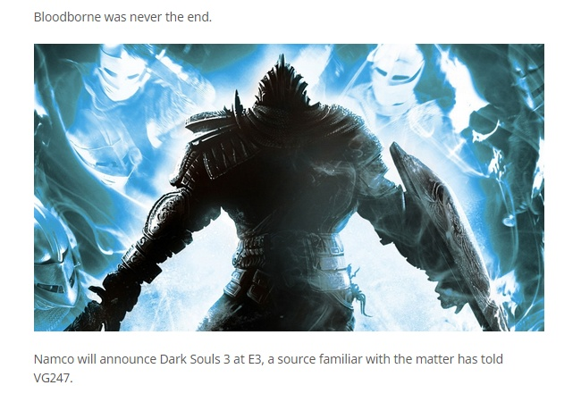 ダークソウル3が発表されるかもしれないと噂!