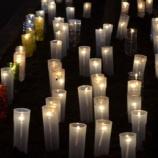 『キャンドルが函館新道を幻想的に照らす!』の画像