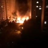 『中国の電気自動車が突然炎上し大火災発生』の画像