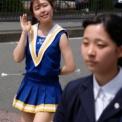 2018年横浜開港記念みなと祭国際仮装行列第66回ザよこはまパレード その45(横浜市立金沢高等学校バトントワリング部WINNERS)