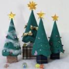 『布で作る小さなクリスマスツリーの作り方』の画像
