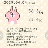 『56.3kg。合計2.1kg減量。1197kcal。17日目。まだ始まったばかりなのに、1週間も停滞期中です!』の画像