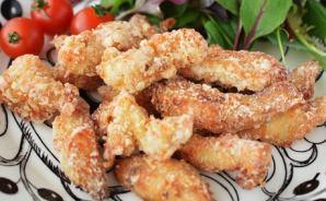 鶏むね肉のスティック唐揚げレシピ