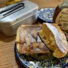『メスティン研究☆ホットケーキを作ってみた+おまけ(メスティンフォンデュとmomoの憂鬱)』の画像