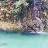 『秋の付知峡(つけちきょう)は紅と緑と青の絶景秘境ですよ(岐阜県中津川市付知町)』の画像