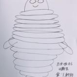 『【乃木坂46】進化してるw 金川紗耶が描いた最新のミシュランマンが白目むいてて怖すぎるんだが・・・』の画像