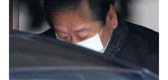 計画通り…。小沢幹事長、マスクをし、コートを着込む【画像あり】