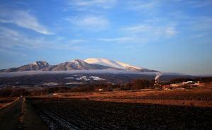 「久し振りに真っ白な浅間山」