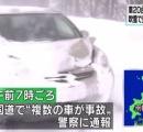 北海道で車20台以上が事故 2人けが 吹雪で見通しきかず