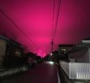 夜空、赤く染まる 津で目撃、ネットでも投稿 三重