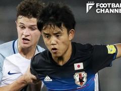 U19日本、久保建英の芸術勝ち越しFKなどで白星発進!北朝鮮を5-2で下す!