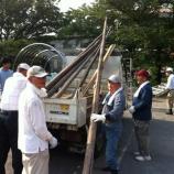『戸田市鍛冶谷町会 盆踊りの櫓を組み上げました!』の画像