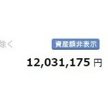 『【朗報】株式運用資産が1200万円に到達!』の画像