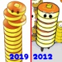 beforeafter★2012年→2019年の絵を比較!「パンケーキ」