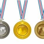 金メダル←凄い!銀メダル←凄い 銅メダル←ショボい