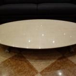 『【限定特価】限定一台・バーズアイメープルミガキ仕様の昇降テーブル』の画像