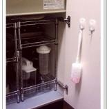 『100均DIY!キッチンのシンク下のアイデア収納術(棚すのこ ボックス ケース ネット セリア 百均 1/3』の画像