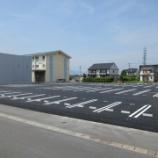 『岐阜県安八郡神戸町 工場駐車場の施工』の画像