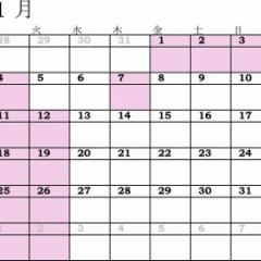 2016年もよろしくお願いします☆ 1月のスケジュール