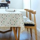 『テーブルクロス紹介NO.3 おしゃれな水玉のテーブルクロス』の画像