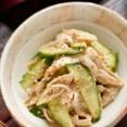 ささ身ときゅうりの中華風ごま酢サラダ