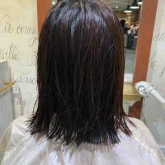 表参道 神宮前 東京 都内で美髪パーマが得意な美容室MINX原宿☆須永健次☆バッサリ、長めボブにナチュラルウェーブをかけてみました。