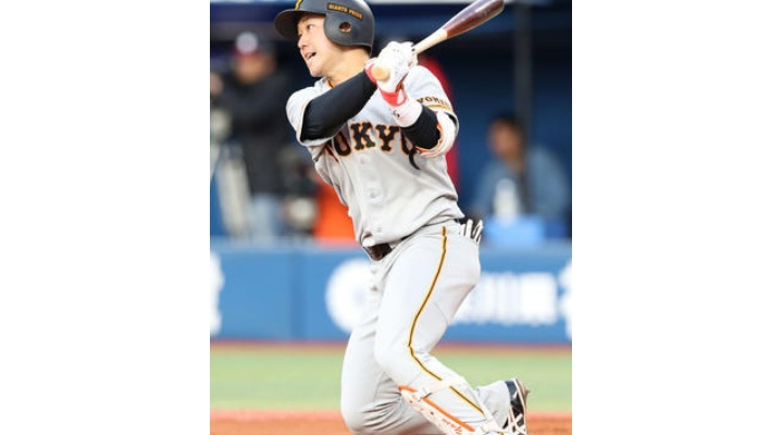 巨人・山本泰寛  .346(52-18)12四球  出塁率.469  OPS.950