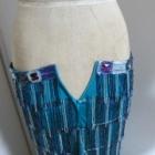 『ベリーダンス衣装 ウエストが小さくて履けないスカートを装飾追加でサイズアップ!』の画像