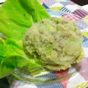 ひき肉とアボカドのポテトサラダ