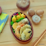 『マッシュルームの天ぷら弁当』の画像